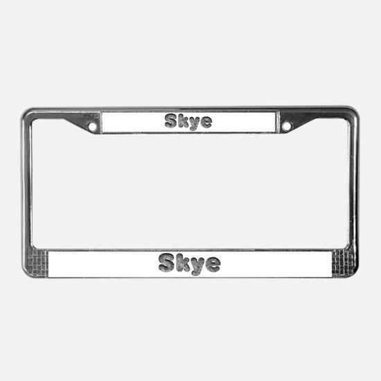 Skye Wolf License Plate Frame