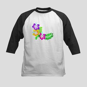 Tropical Hibiscus Baseball Jersey
