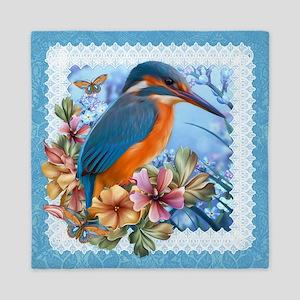 Kingfisher Bird Design Queen Duvet
