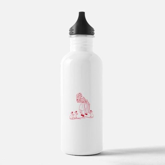 Blind Mice Redwork Water Bottle