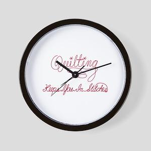 Quilting Saying Wall Clock