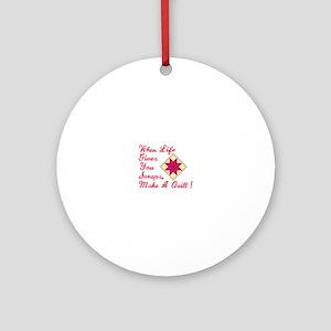 Lifes Scraps Quilting Ornament (Round)