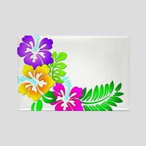 Tropical Hibiscus Magnets