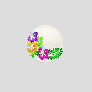 Tropical Hibiscus Mini Button