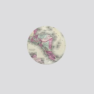 Vintage Map of Central America (1864) Mini Button