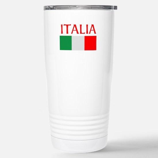 ITALIA FLAG Stainless Steel Travel Mug