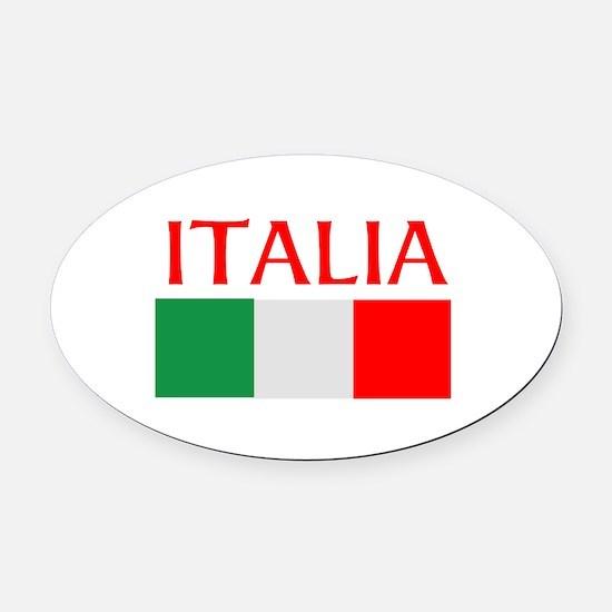 ITALIA FLAG Oval Car Magnet