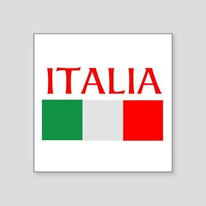 "ITALIA FLAG Square Sticker 3"" x 3"""