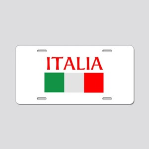 ITALIA FLAG Aluminum License Plate