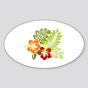 Hibiscus Dreams Sticker (Oval)