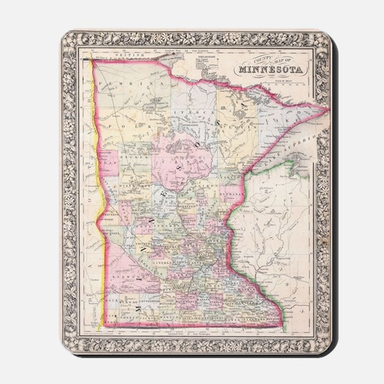 Vintage Map of Minnesota (1864) Mousepad