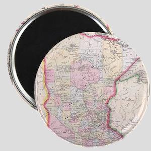 Vintage Map of Minnesota (1864) Magnet