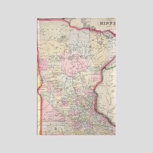 Vintage Map of Minnesota (1864) Rectangle Magnet