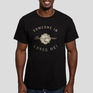 Someone In Pennsylvani Men's Fitted T-Shirt (dark)
