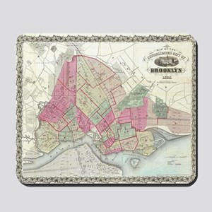 Vintage Map of Brooklyn NY (1868) Mousepad