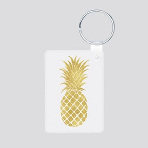 Gold Glitzy Pineapple Keychains