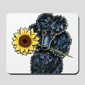Sunny Black Poodle Mousepad