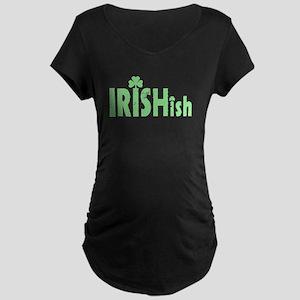 IRISHish - Somewhat Irish Maternity Dark T-Shirt