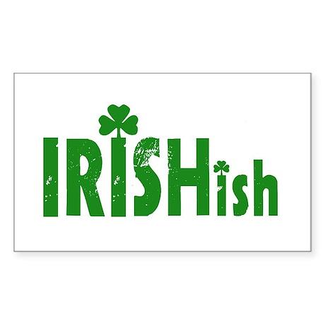IRISHish - Somewhat Irish Rectangle Sticker