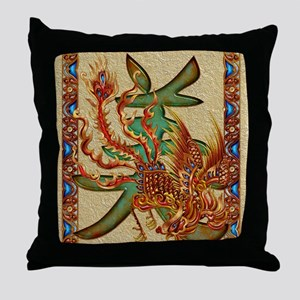 Harvest Moons Firebird Throw Pillow