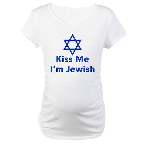 Kiss Me I'm Jewish Maternity T-Shirt