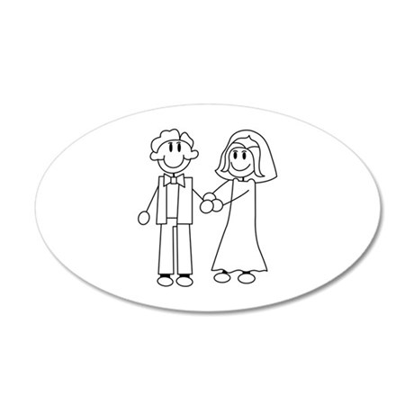 Bride Groom Outline Wall Decal
