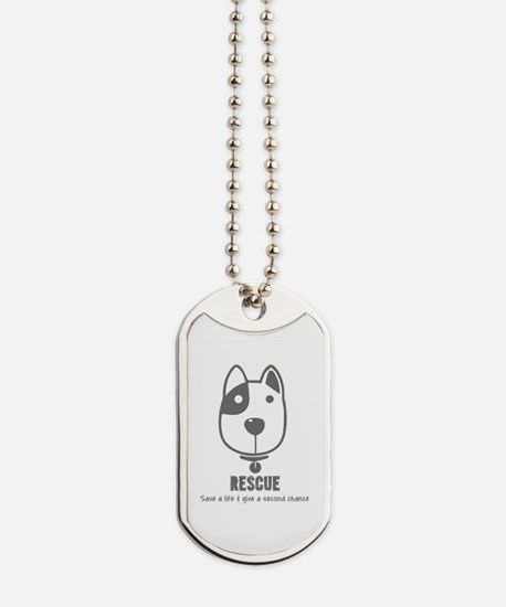 Cool Rescue dog Dog Tags