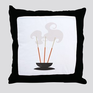 Mind & Sould Incense Sticks Throw Pillow