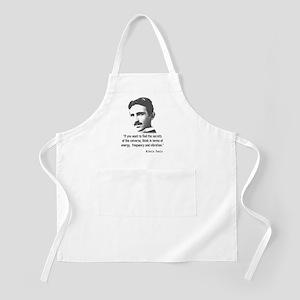 Quote By Nikola Tesla Apron