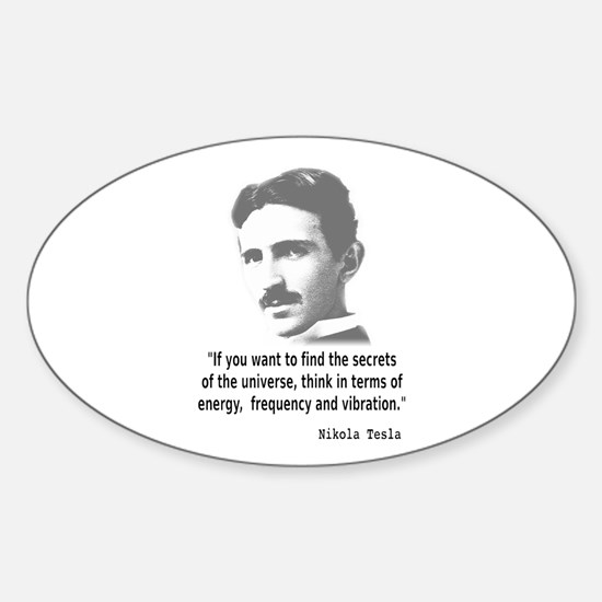 Quote By Nikola Tesla Decal