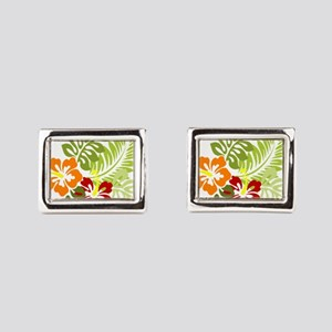 Hibiscus Dreams Rectangular Cufflinks
