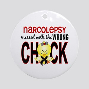 Narcolepsy MessedWithWrongChick1 Ornament (Round)