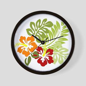 Hibiscus Dreams Wall Clock
