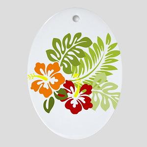 Hibiscus Dreams Ornament (Oval)