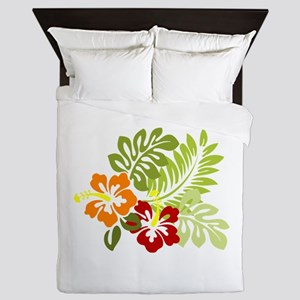 Hibiscus Dreams Queen Duvet