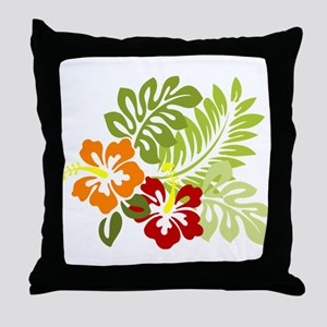 Hibiscus Dreams Throw Pillow
