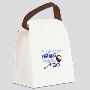 Fishing with Dad Canvas Lunch Bag