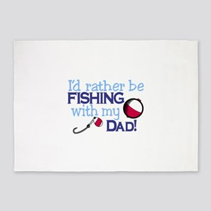 Fishing with Dad 5'x7'Area Rug