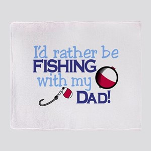 Fishing with Dad Throw Blanket
