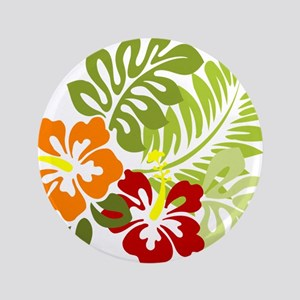 Hibiscus Dreams Button
