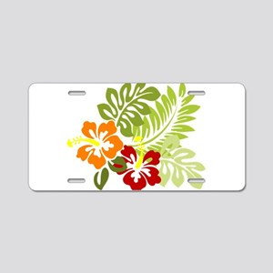 Hibiscus Dreams Aluminum License Plate