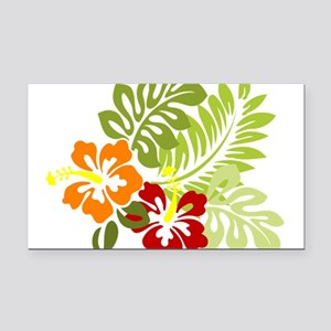 Hibiscus Dreams Rectangle Car Magnet