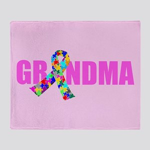Autism Grandma Throw Blanket