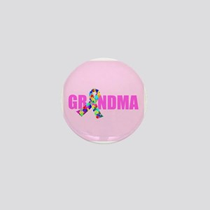 Autism Grandma Mini Button