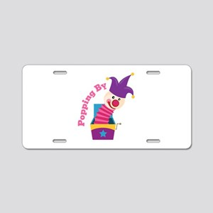 Popping By Spring Toy Aluminum License Plate