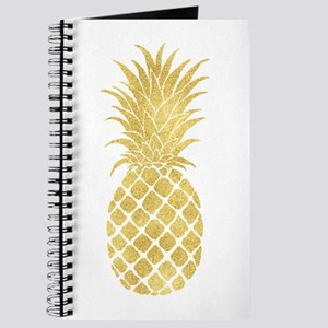 Gold Glitzy Pineapple Journal