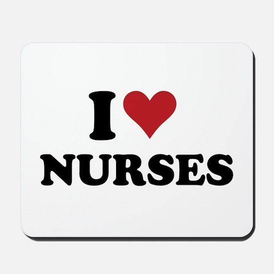 i heart nurses Mousepad