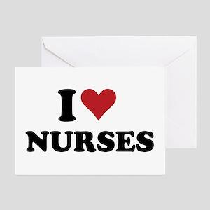 i heart nurses Greeting Card