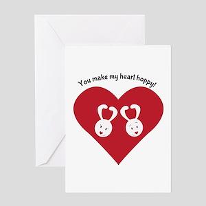 Hoppy Heart Greeting Cards