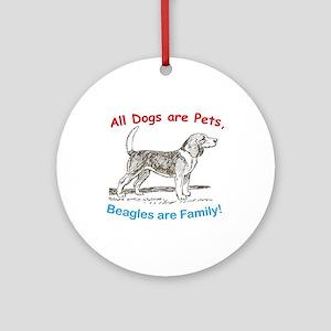 Beagle Beagles Dog Ornament (Round)